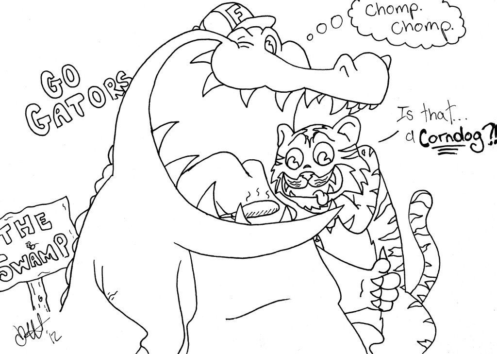 Gator Coloring Sheets For Kids - LSU Week - Coloring Home