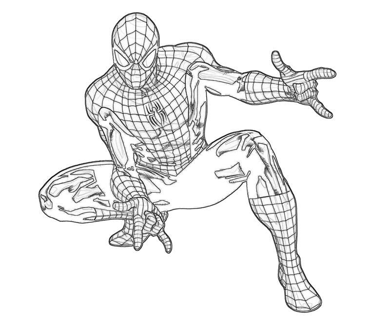 marvel heroes coloring pages spiderman - photo#1