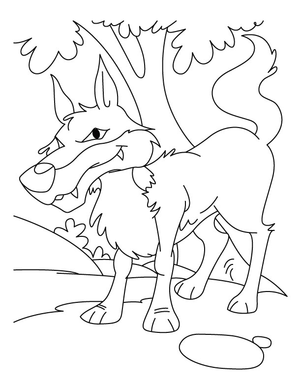 Wolf Coloring Pages Pdf : Wolf images for kids az coloring pages