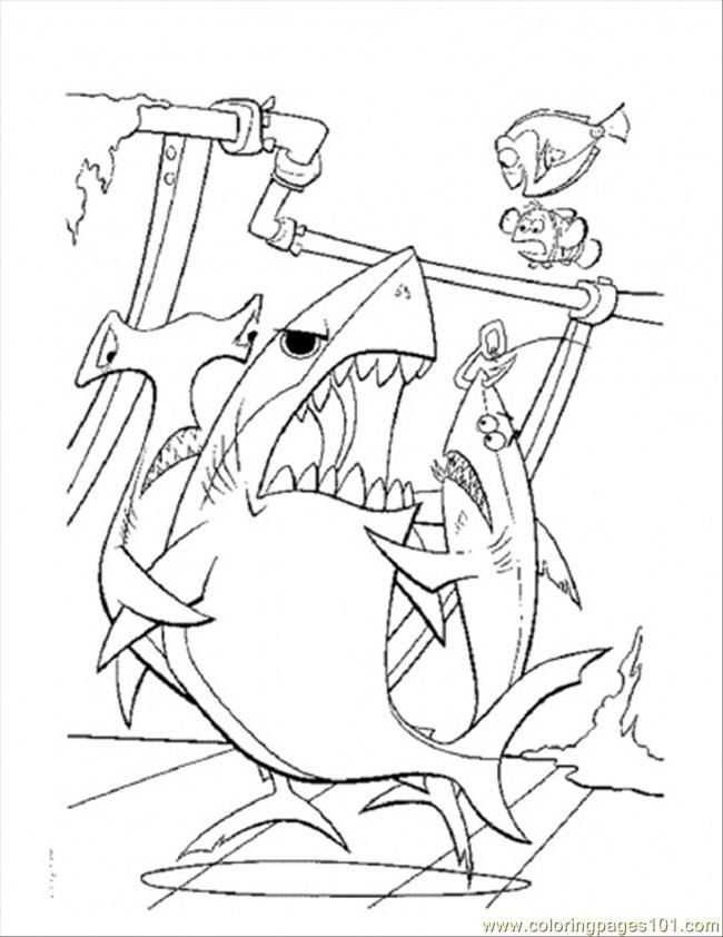 Finding Nemo Bruce Coloring Pages Images & Pictures - Becuo
