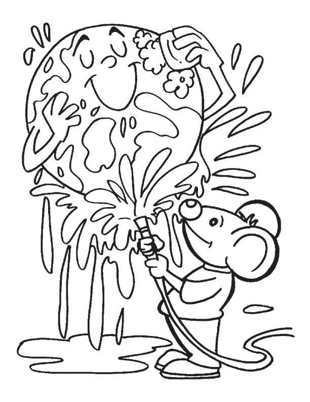 Keeping the earth clean coloring page | Download Free Keeping the