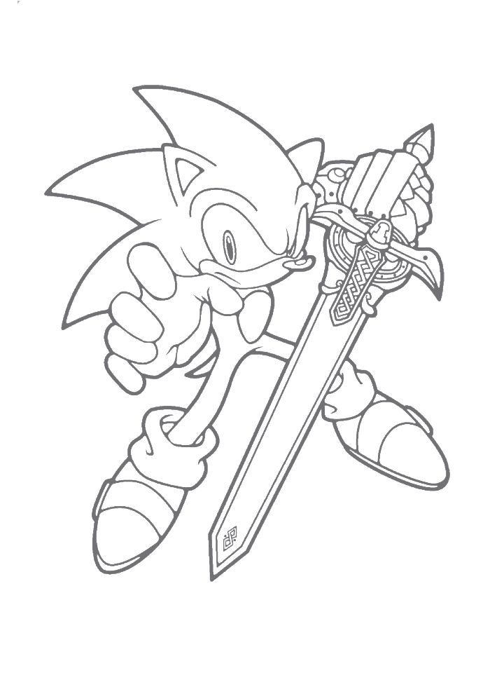 Sonic X Coloring Pages To Print