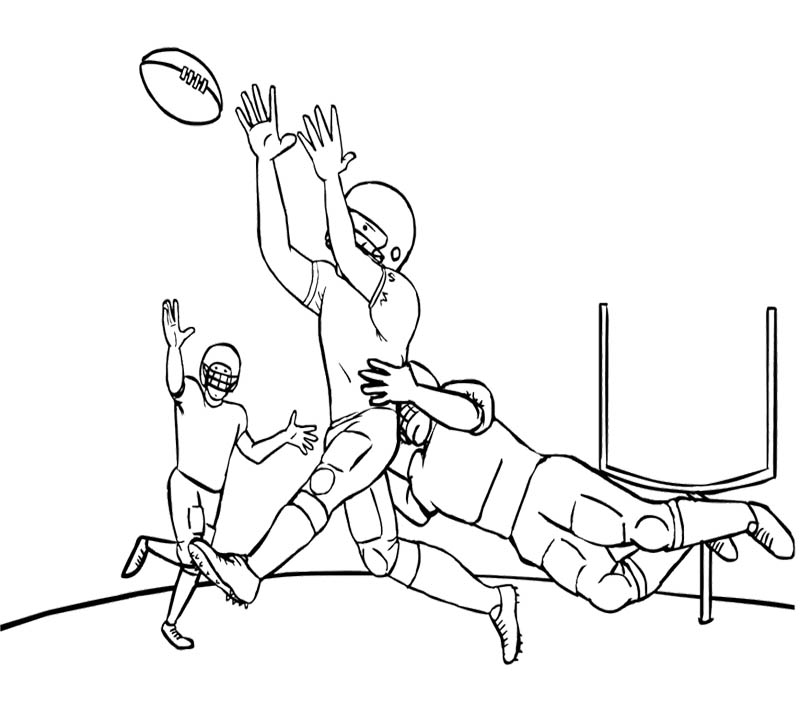 Football Player Coloring Pages Seahawks Football Nfl Coloring Pages