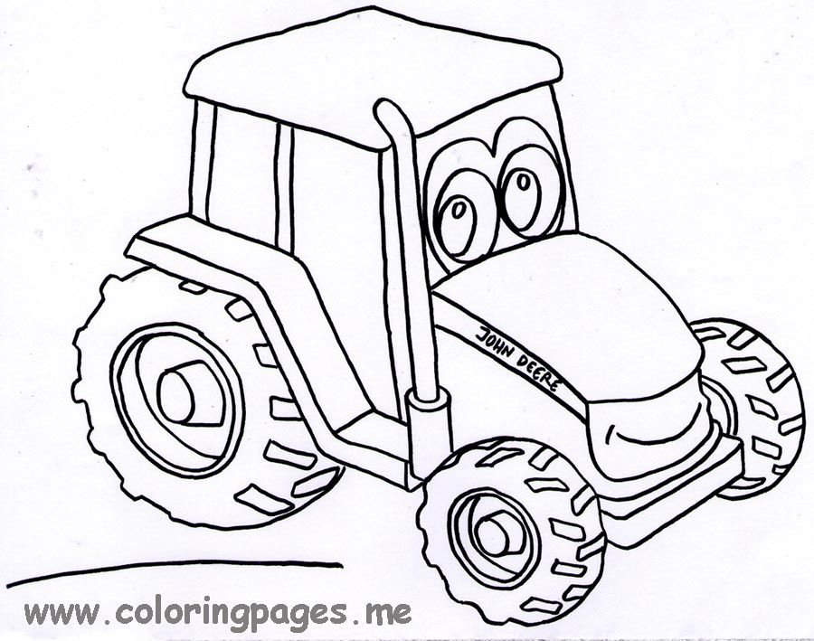 Tractor Coloring Pages John Deere - Coloring Home