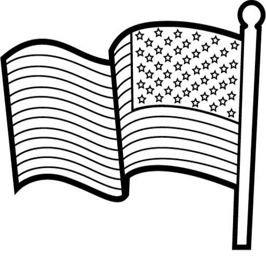- American Flag Coloring Page - Coloring Home