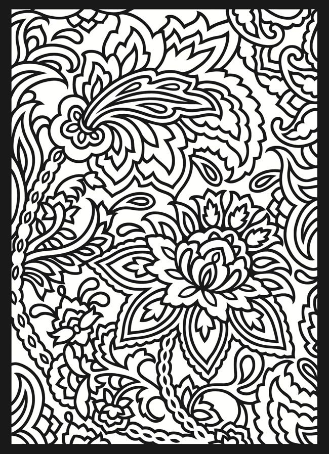 patterned designs coloring pages - photo#1