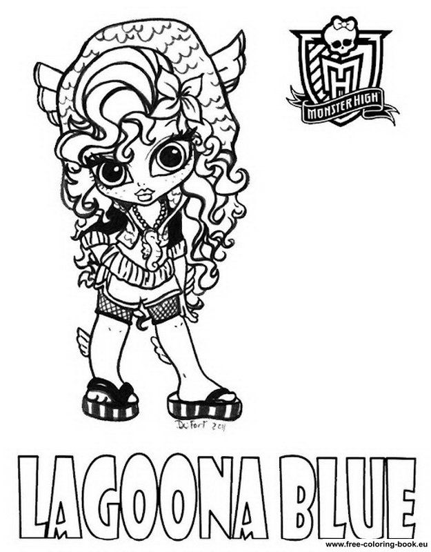 Monster High To Print - Coloring Home