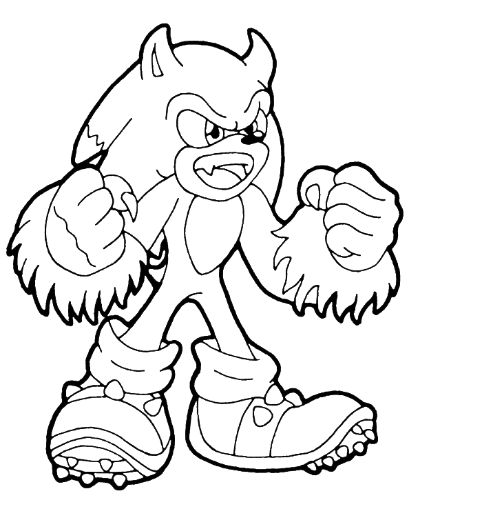 sonic wolf coloring pages - photo#3