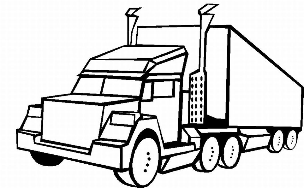 Free fire truck coloring pages az coloring pages for Free truck coloring pages
