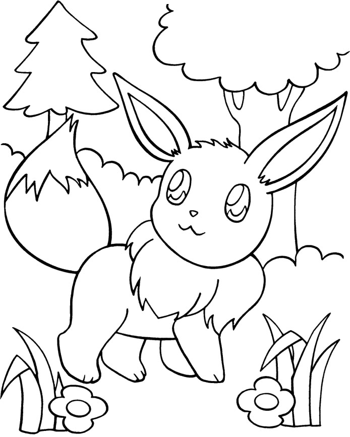 eevee evolutions coloring pages leafeon - photo#24