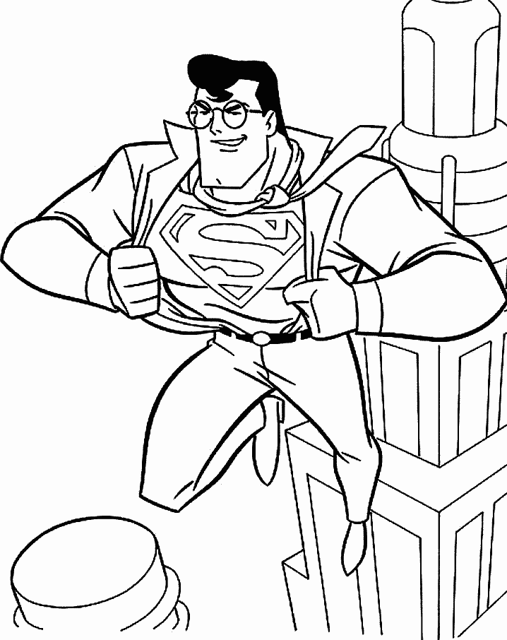 Superman Coloring Pages Free Printable Download | Coloring Pages Hub