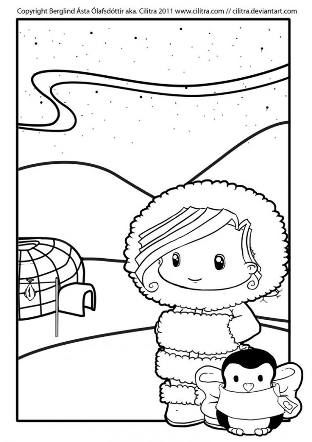 eskimo coloring pages - photo#32