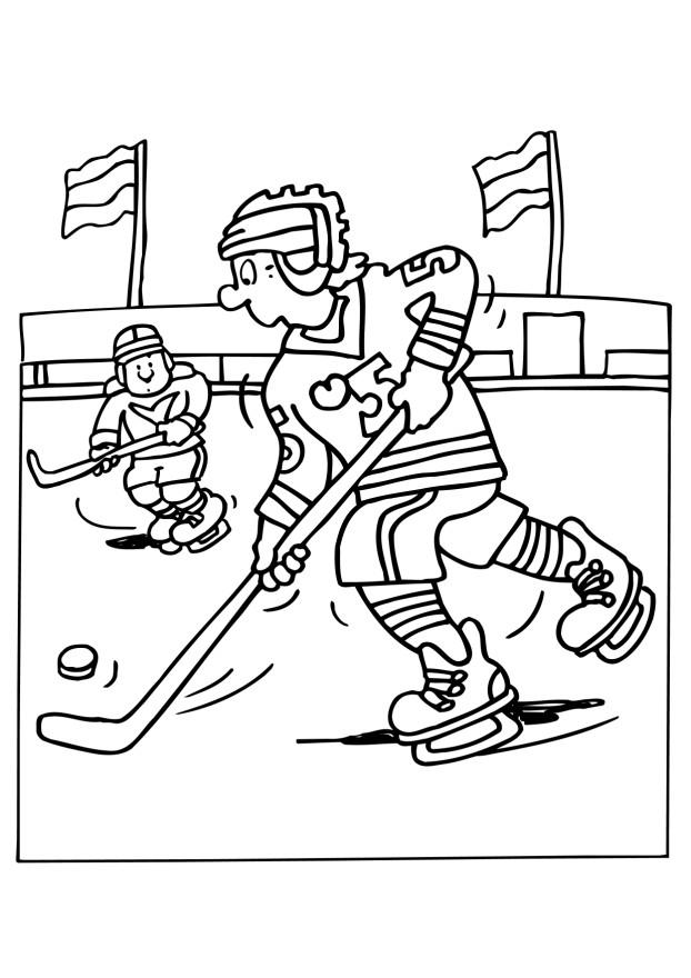 Free Hockey Coloring Pages Coloring Home