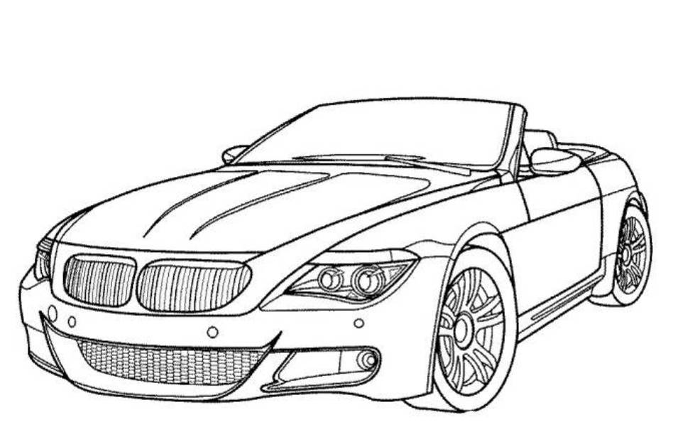 bmw car coloring pages printable cars