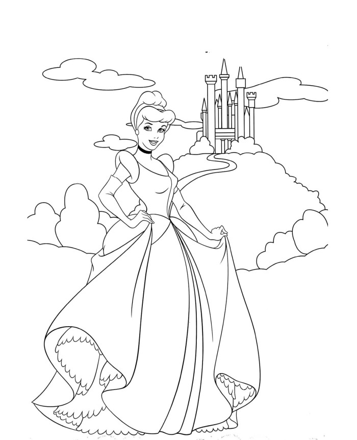 Disney Castle Coloring Pages Az Coloring Pages Cinderella Castle Coloring Pages