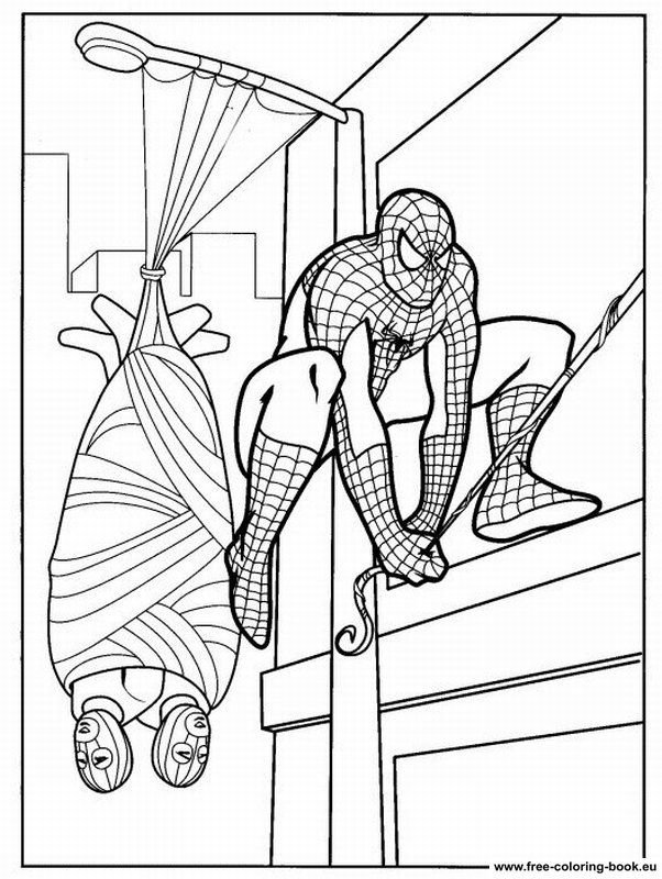 Black Spiderman Coloring Pages - Coloring Home