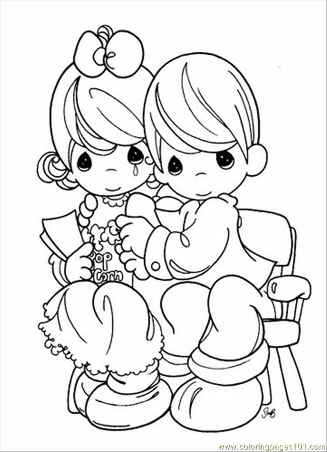 Free printable precious moments coloring pages for Precious moments coloring page