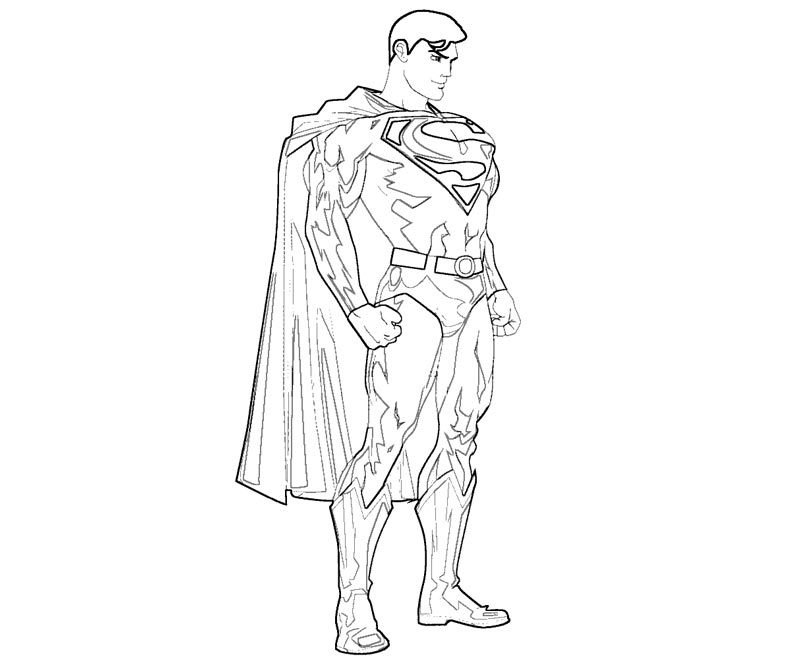 6 Superman Coloring Page
