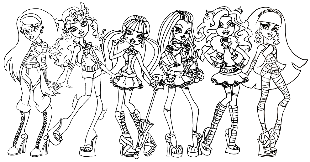 monster high coloring pages to color free printable coloring pages