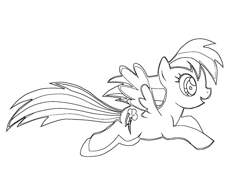 My Little Pony Coloring Pages Rainbow Dash - Coloring Home