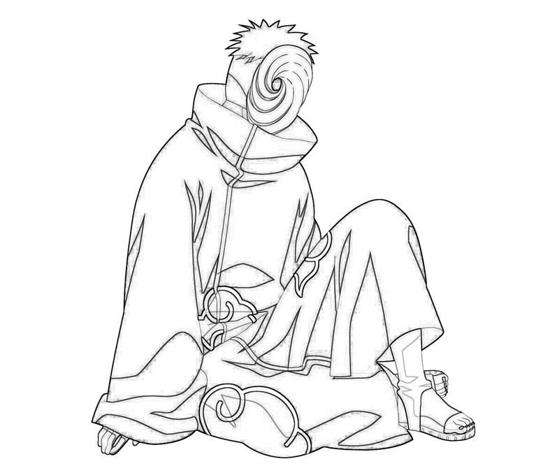 Naruto Coloring Pages – Tobi Character | coloring pages