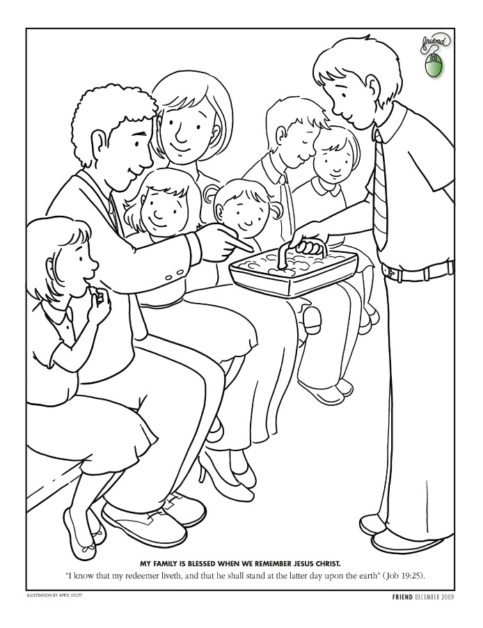 baptism coloring pages for children - photo#27