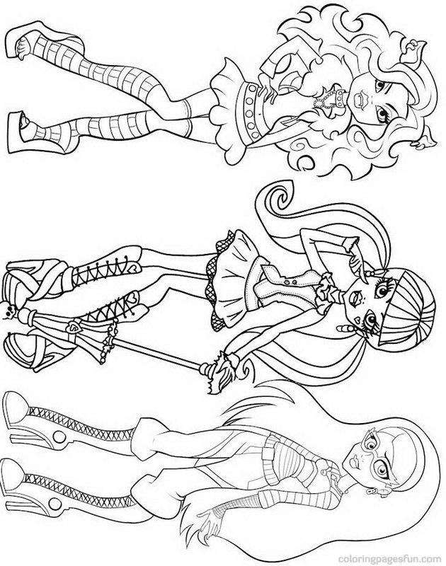 Monster high print out coloring pages coloring home for Monster high coloring pages to print out