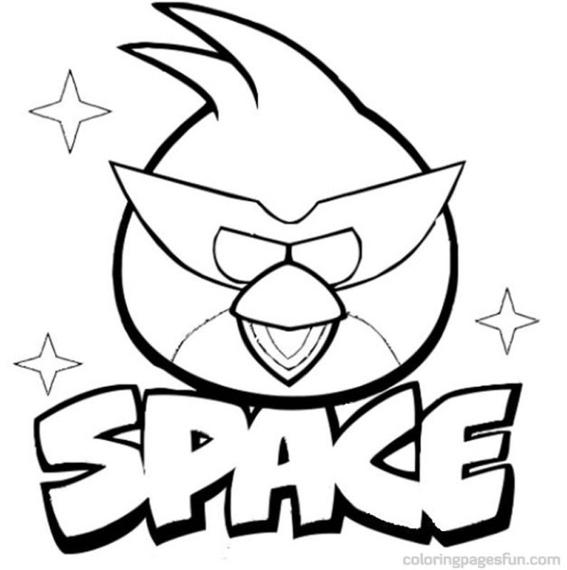 Angry Birds Space Coloring Pages 7 | Free Printable Coloring Pages
