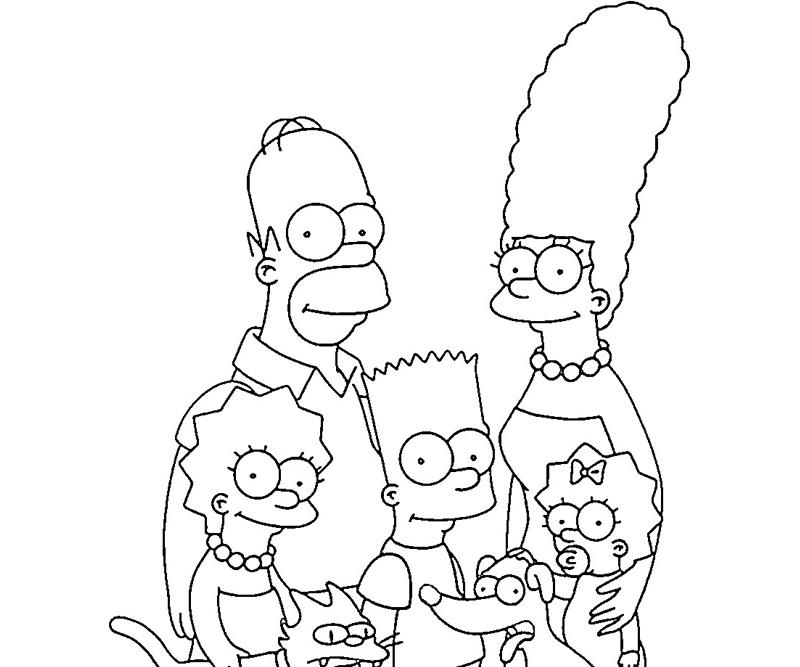 Simpsons Coloring Pages To Print Az Coloring Pages And The Tr Coloring Page
