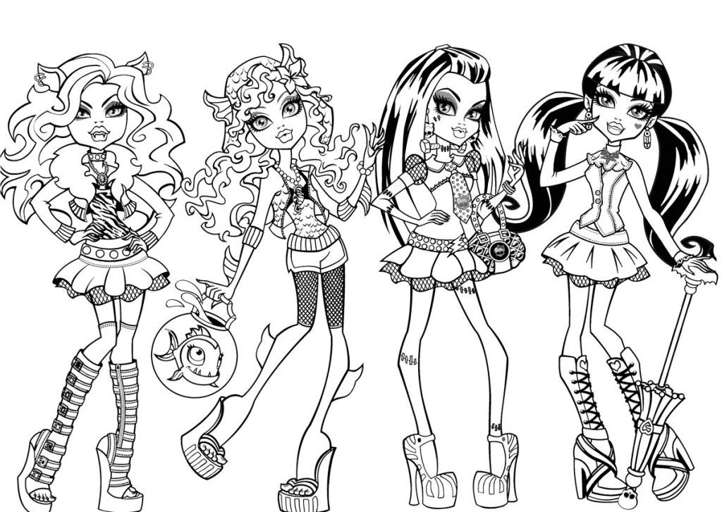 Monster High Doll Coloring Pages Az Coloring Pages High Dolls Coloring Pages