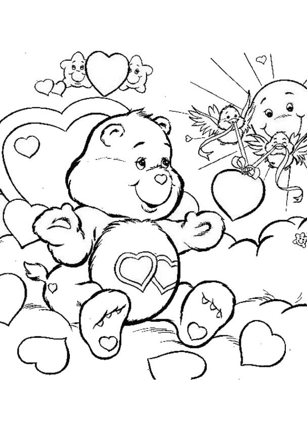 Bear Coloring Pages Pdf : Care bears coloring pages love a lot bear home