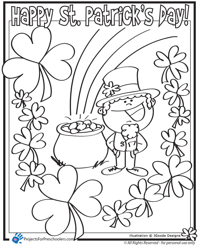 coloring pages st patrics day - photo#10