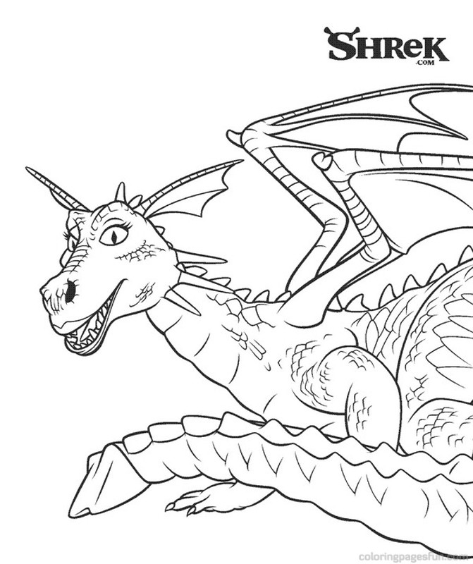 shrek dragon coloring pages - shrek color pages az coloring pages