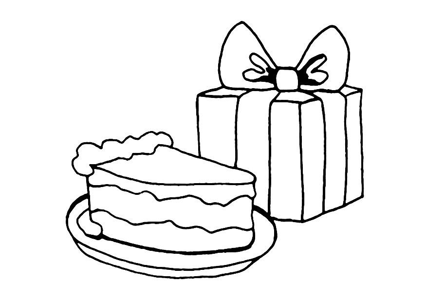 Cake Pictures To Print And Colour : Cake Colouring Pages