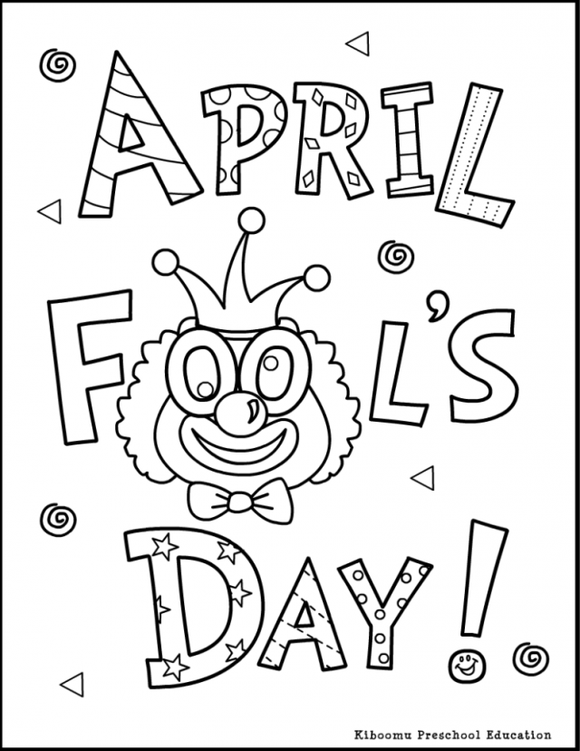 April Fools Day Coloring Pages Free Free Coloring Pages For Kids
