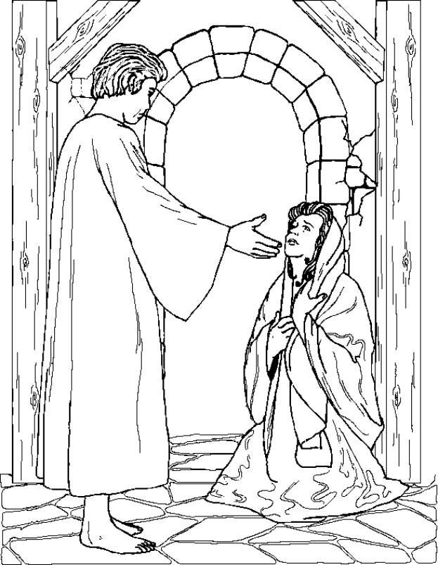 Mary Coloring Page Coloring Home