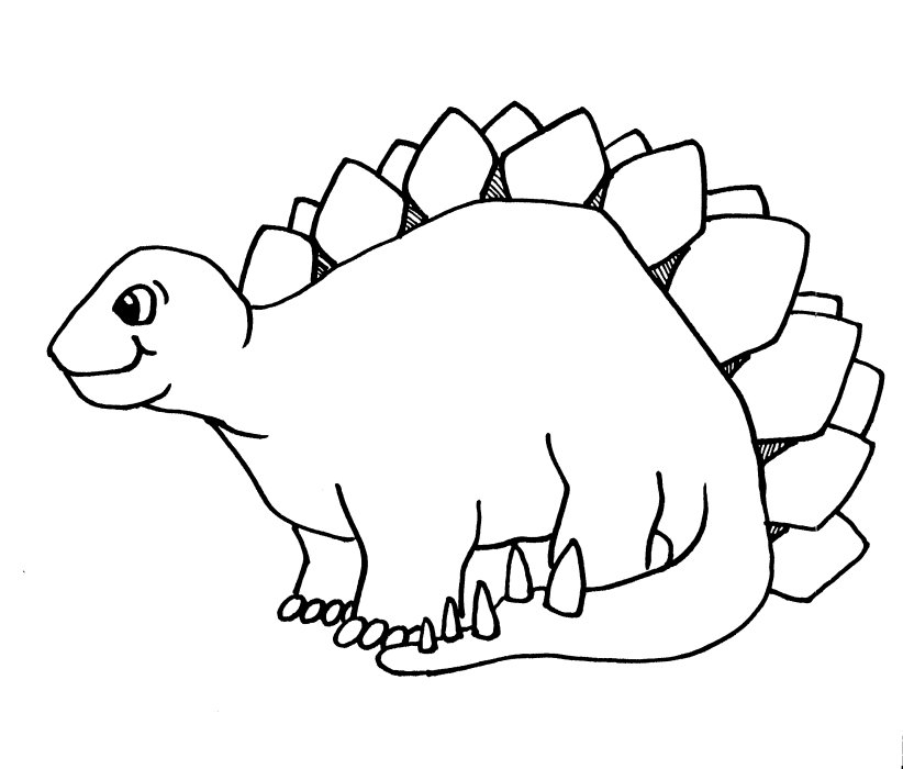 Cute Dinosaur Coloring Pages - AZ Coloring Pages