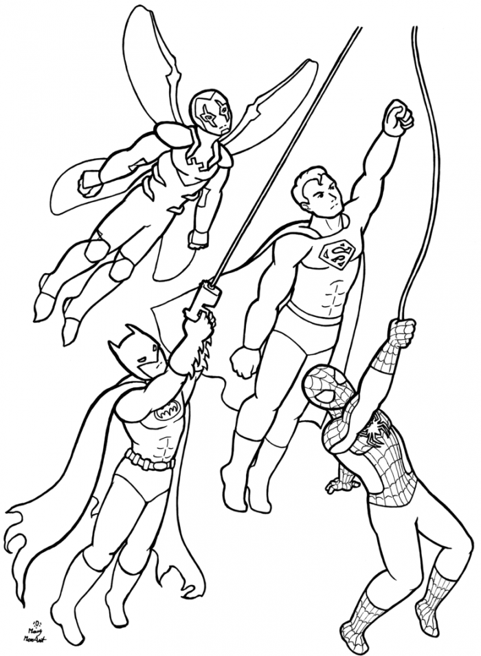 Batman Beyond Coloring Page : Printable Coloring Book Sheet Online