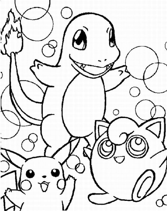 pokemon character coloring pages - photo#3
