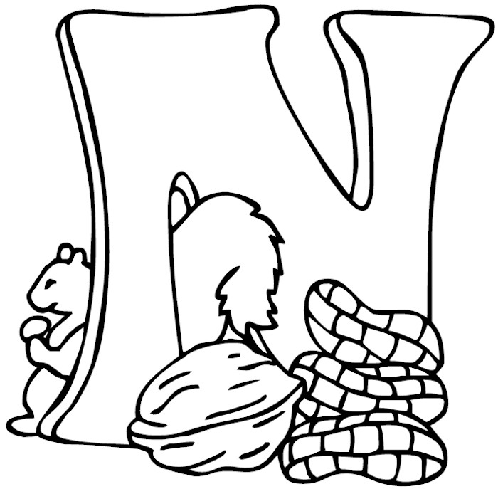 letter n coloring pages az coloring pages