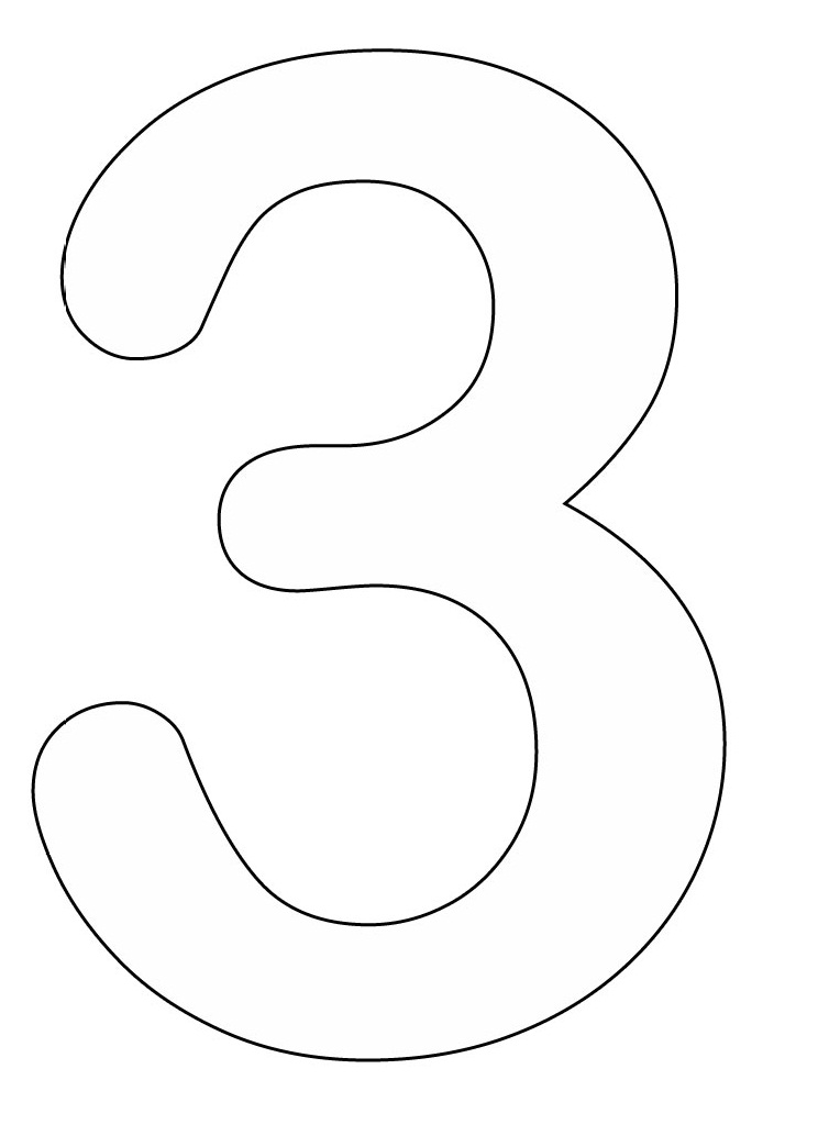 Bubble numbers coloring pages az coloring pages for Bubble numbers 3
