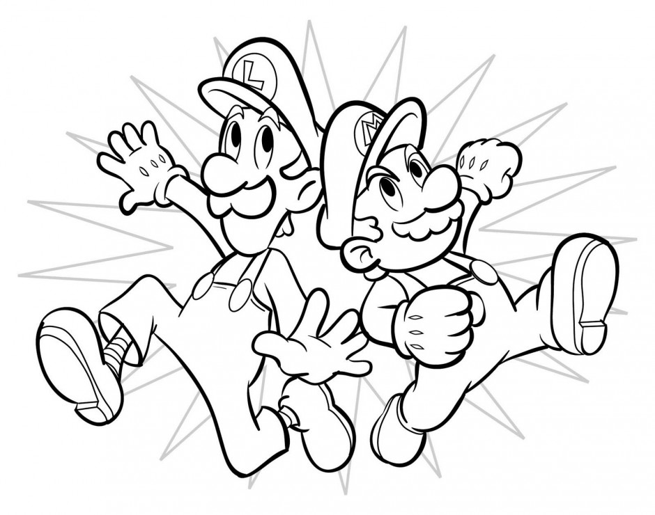 Coloring Pages Fabulous Mario Bros Coloring Pages Coloring Page