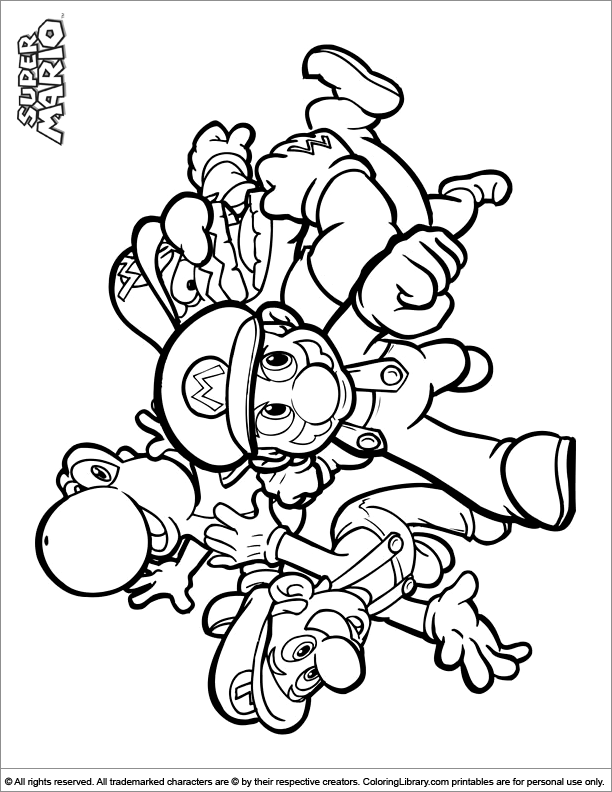 mario brothers sunshine coloring pages - photo#23