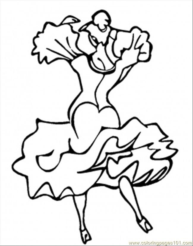 coloring pages flamenco dancers - photo#16