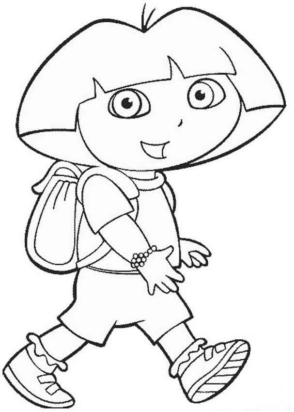 Dora The Explorer Coloring Page #5