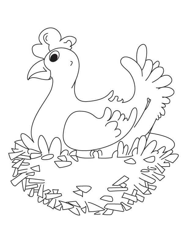 My sweet home hen coloring pages | Download Free My sweet home hen