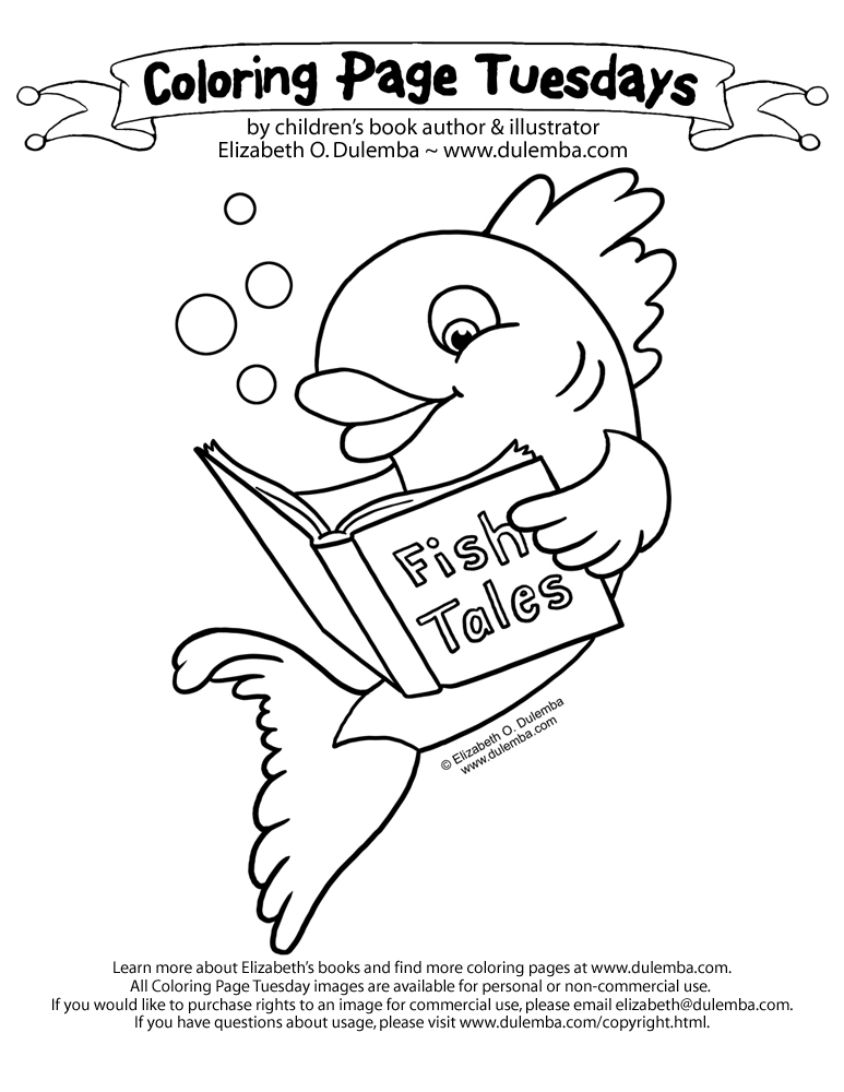 dulemba: Coloring Page Tuesday - Fish Tales