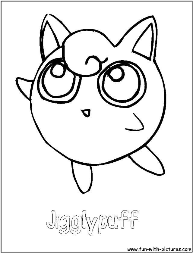 Pokemon eevee pictures coloring home for Jigglypuff coloring page