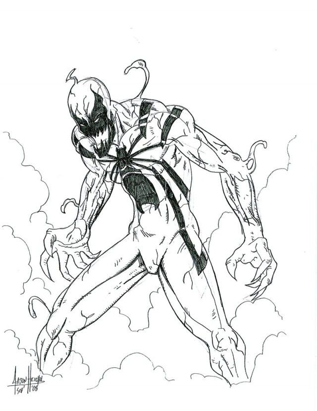 spiderman carnage coloring pages - photo#15