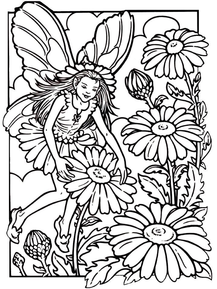 Fairy coloring pages for adults coloring home Coloring book for adults free download